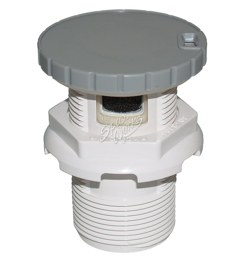 1 inch gray silent air control valve the spa works. Black Bedroom Furniture Sets. Home Design Ideas