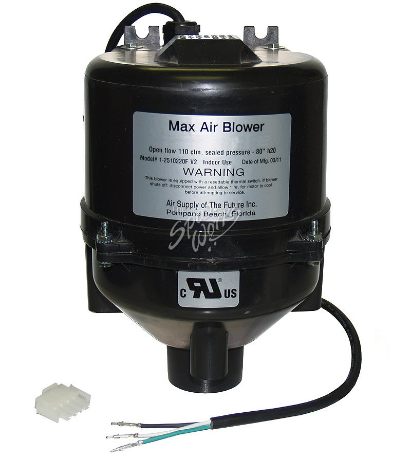Max Air Blower 1 5hp 240v With Amp Plug The Spa Works