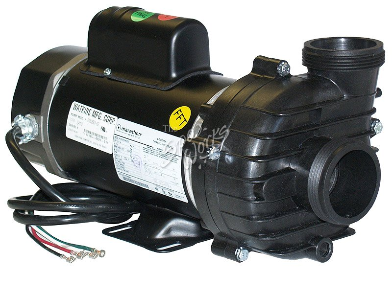 Caldera spa 2 5 hp 2 speed 240 volt side discharge xp2 for Spa pumps and motors