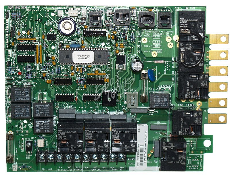 Caldera Spa Circuit Board 9800cp Series The Spa Works