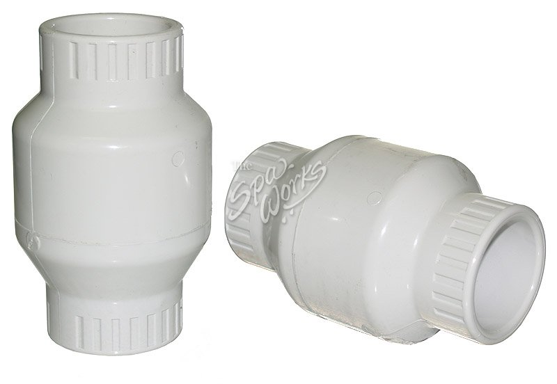 Inch pvc swing check valve white the spa works