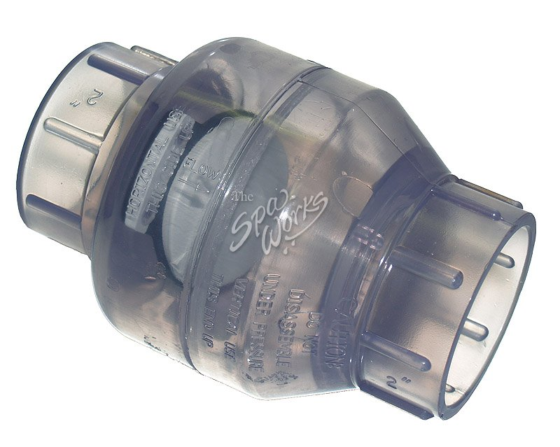 Pvc Water Valve : Cal spa inch flapper pvc water check valve the works
