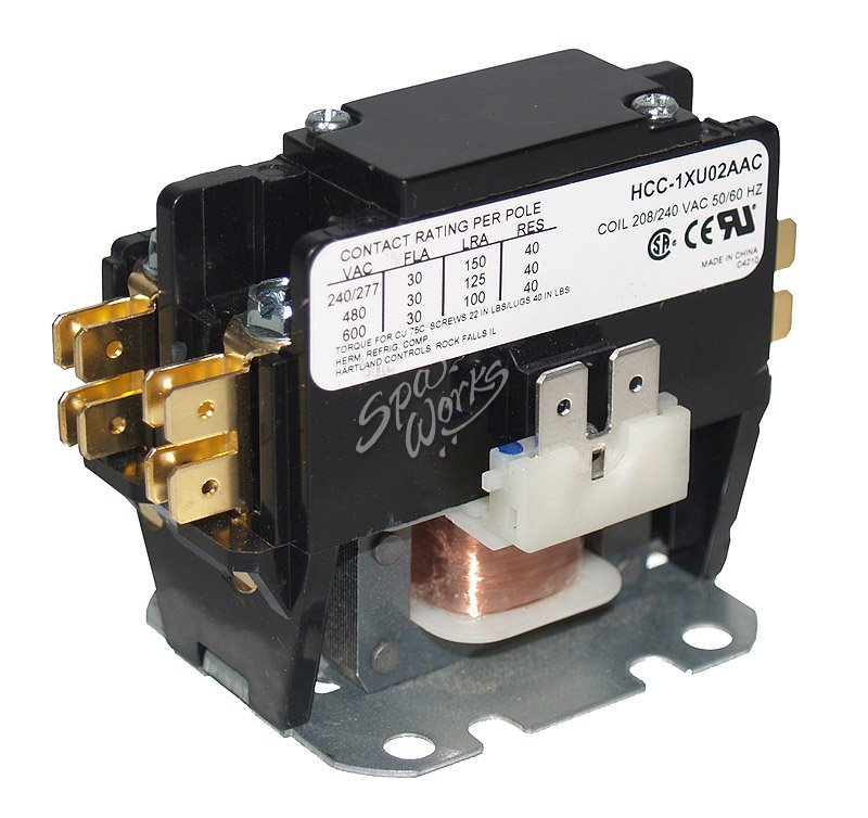 1 pole magnetic contactor wiring 1 pole contactor wiring diagram single pole contactor 230 vac coil 30 amp rated | the spa ...