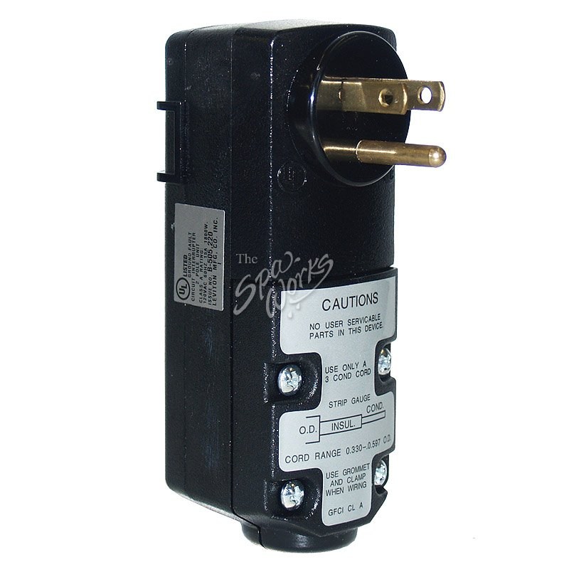 LEVITON 15 AMP 120 VOLT CORD END GFCI | The Spa Works