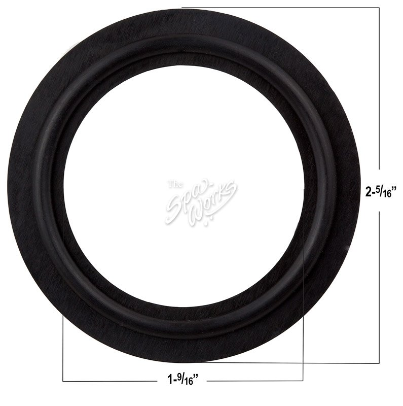 1 1/2 INCH HEATER GASKET WITH O-RING RIB   The Spa Works