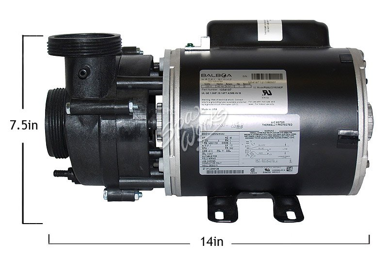 vico ultra jet 1 hp 230 volt 2 speed 48 fr pump 56 fr motor rh thespaworks com Vico Ultra Jet Pumps ultra jet spa pump wiring