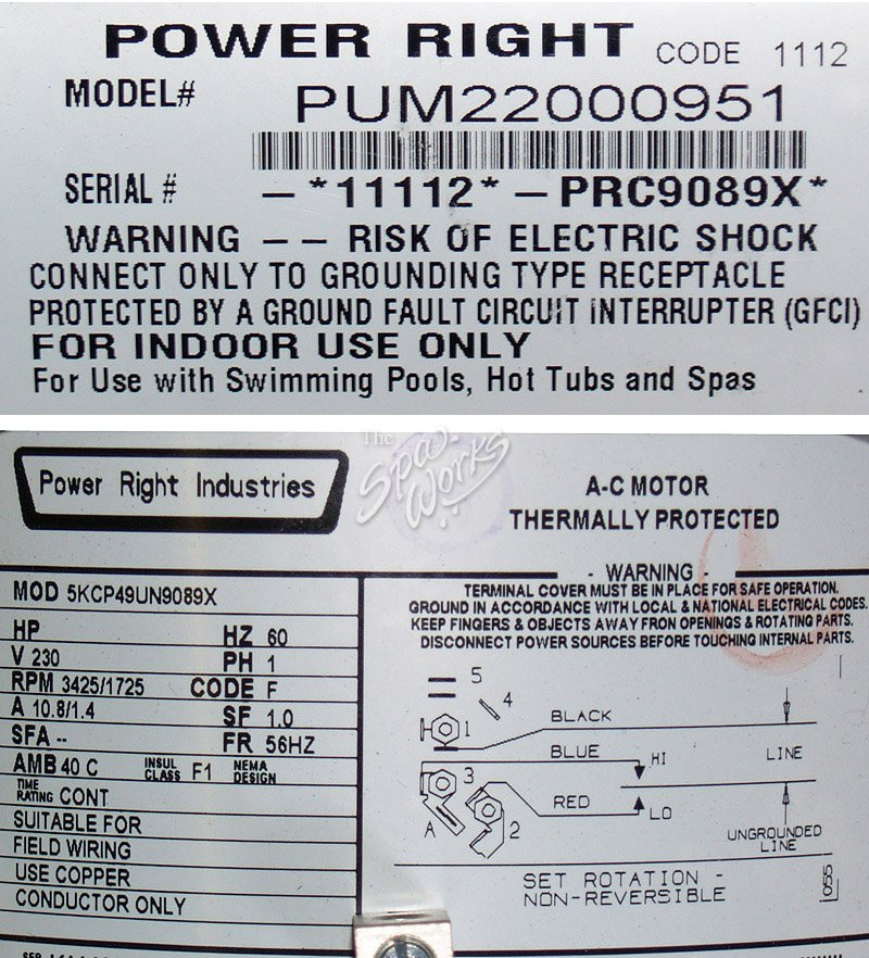 pum22000951 2_0 cal spa 5 hp, 2 speed, 240v power right pump the spa works cal spa wiring diagram at pacquiaovsvargaslive.co