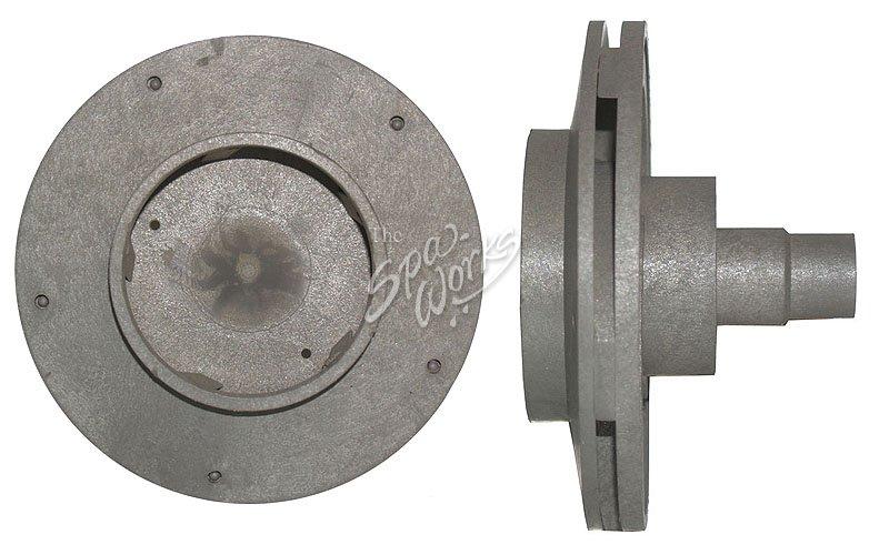 Cal spa power right 56 frame forward impeller dually for Cal spa dually pump motor