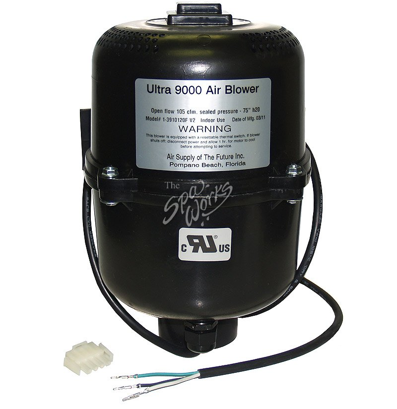 JACUZZI SPA BLOWER, AIR WITH PLUG, 120 VOLTS AC (LASER+, SANTINA+) ...
