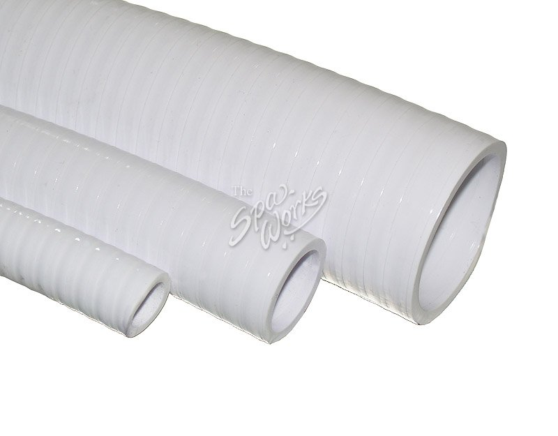 Inch white pvc flex pipe the spa works